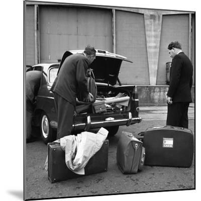 A 1961 Austin Westminster Being Loaded with Luggage on Amsterdam Docks, Netherlands 1963-Michael Walters-Mounted Photographic Print
