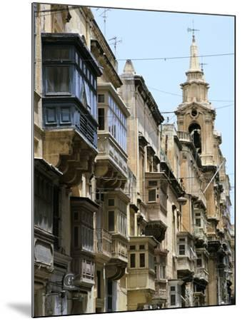 Balconies, St Pauls Street, Valletta, Malta-Peter Thompson-Mounted Photographic Print