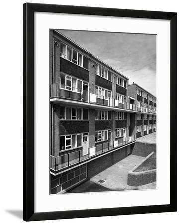 Woodside Maisonettes, Sheffield 13th August 1962-Michael Walters-Framed Photographic Print