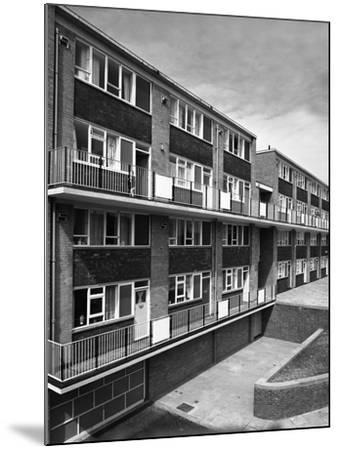 Woodside Maisonettes, Sheffield 13th August 1962-Michael Walters-Mounted Photographic Print