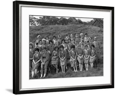Women from the Ici Powder Works in a Group Photograph, South Yorkshire, 1962-Michael Walters-Framed Photographic Print
