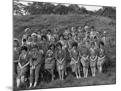 Women from the Ici Powder Works in a Group Photograph, South Yorkshire, 1962-Michael Walters-Mounted Photographic Print