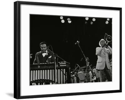 Lionel Hampton (Vibraphone) and Al Grey (Trombone) on Stage at Knebworth, Hertfordshire, July 1982-Denis Williams-Framed Photographic Print