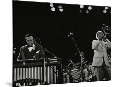 Lionel Hampton (Vibraphone) and Al Grey (Trombone) on Stage at Knebworth, Hertfordshire, July 1982-Denis Williams-Mounted Photographic Print