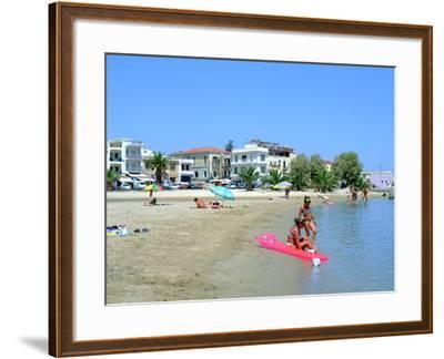 Beach, Rethymnon, Crete, Greece-Peter Thompson-Framed Photographic Print