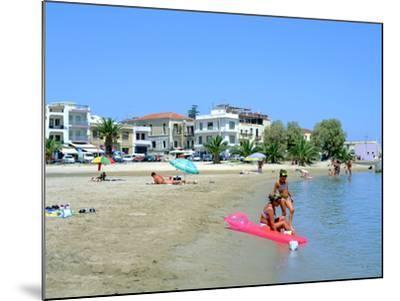 Beach, Rethymnon, Crete, Greece-Peter Thompson-Mounted Photographic Print