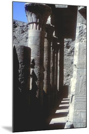 Lotus Capitals, Temple of Horus, Edfu, Egypt, Ptolemaic Period, C251 Bc-C246 Bc-CM Dixon-Mounted Photographic Print