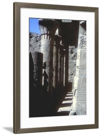 Lotus Capitals, Temple of Horus, Edfu, Egypt, Ptolemaic Period, C251 Bc-C246 Bc-CM Dixon-Framed Photographic Print