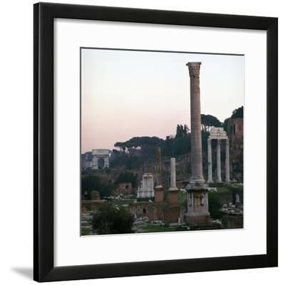 The Roman Forum in the Evening, 2nd Century-CM Dixon-Framed Photographic Print