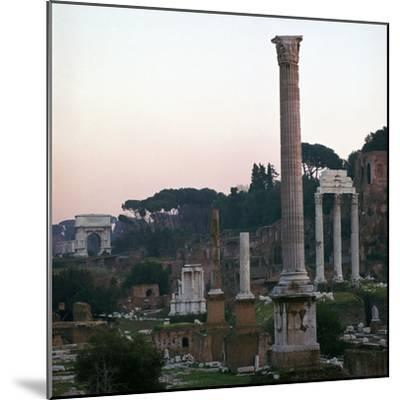 The Roman Forum in the Evening, 2nd Century-CM Dixon-Mounted Photographic Print
