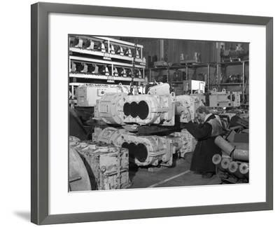 The Stores at Duckmanton Colliery Near Chesterfield, 1962-Michael Walters-Framed Photographic Print