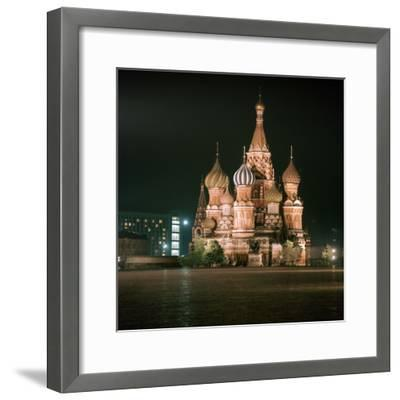 St Basils Cathedral at Night-CM Dixon-Framed Photographic Print