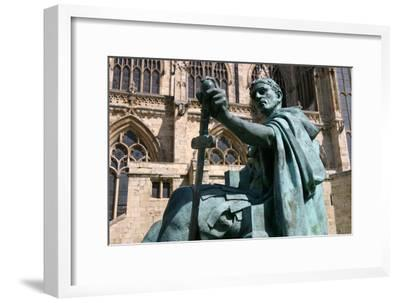 Statue of Constantine the Great, York, North Yorkshire-Peter Thompson-Framed Photographic Print
