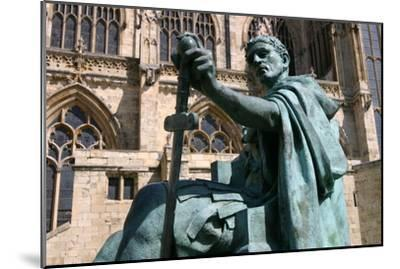 Statue of Constantine the Great, York, North Yorkshire-Peter Thompson-Mounted Photographic Print