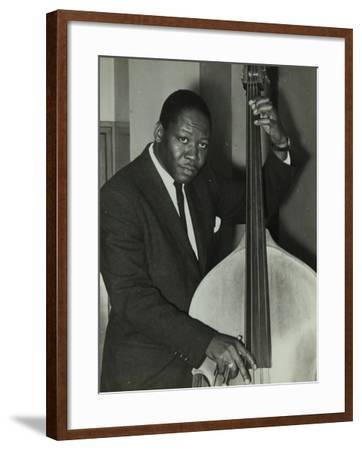 Portrait of American Double Bass Player Curtis Counce, C1950S-Denis Williams-Framed Photographic Print