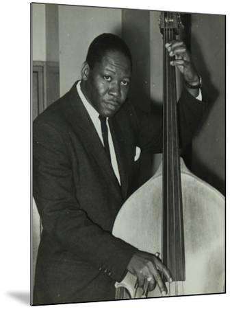 Portrait of American Double Bass Player Curtis Counce, C1950S-Denis Williams-Mounted Photographic Print