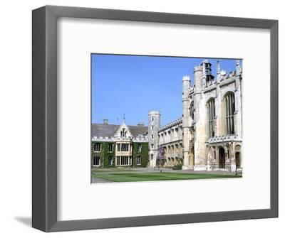 Inside the Great Court, Trinity College, Cambridge, Cambridgeshire-Peter Thompson-Framed Photographic Print