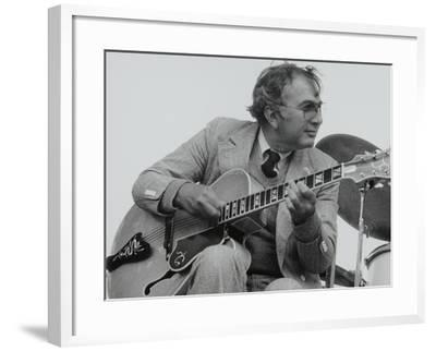 American Guitarist Bucky Pizzarelli on Stage at the Capital Radio Jazz Festival, London, 1979-Denis Williams-Framed Photographic Print