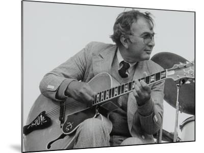American Guitarist Bucky Pizzarelli on Stage at the Capital Radio Jazz Festival, London, 1979-Denis Williams-Mounted Photographic Print