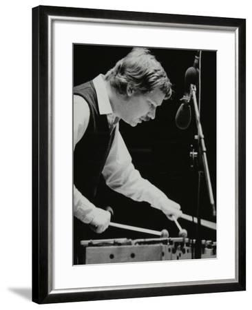 Gary Burton Playing the Vibraphone at the Forum Theatre, Hatfield, Hertfordshire, 25 November 1980-Denis Williams-Framed Photographic Print