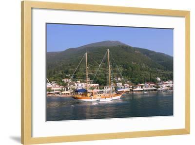 Sailing Boat Off Sami, Kefalonia, Greece-Peter Thompson-Framed Photographic Print