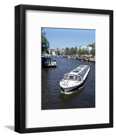 Amstel Canal and Bloumerbrug, Binnen, Amsterdam, Netherlands-Peter Thompson-Framed Photographic Print