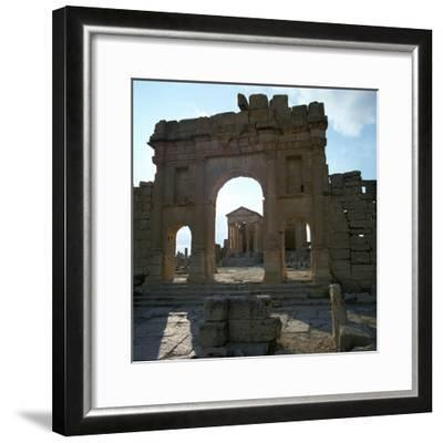 Roman Forum in Suffetula, Tunisia, 2nd Century-CM Dixon-Framed Photographic Print