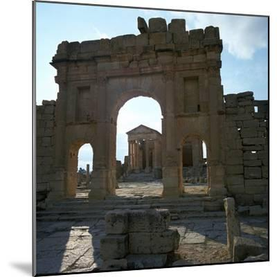 Roman Forum in Suffetula, Tunisia, 2nd Century-CM Dixon-Mounted Photographic Print