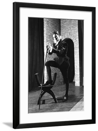 Character from a Production of Shakespeares Twelfth Night, Worksop College, Derbyshire, 1960-Michael Walters-Framed Photographic Print