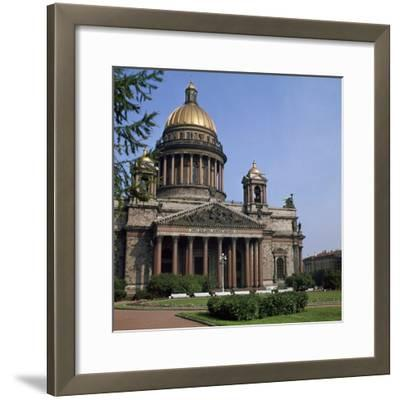 St Isaacs Cathedral in St Petersburg-CM Dixon-Framed Photographic Print