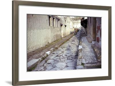Paved Street in the Roman Town of Herculaneum, Italy-CM Dixon-Framed Photographic Print
