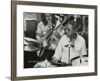 Buddy Rich and Dave Carpenter Playing at the Royal Festival Hall, London, June 1985-Denis Williams-Framed Photographic Print