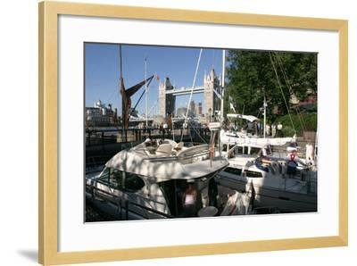 Boats in St Katherines Lock, London-Peter Thompson-Framed Photographic Print