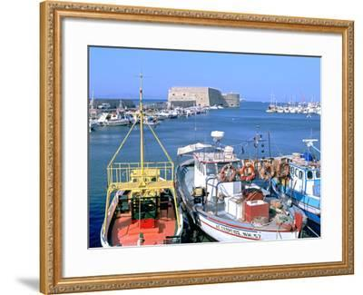 Venetian Harbour and Koules Fortress, Heraklion, Crete, Greece-Peter Thompson-Framed Photographic Print