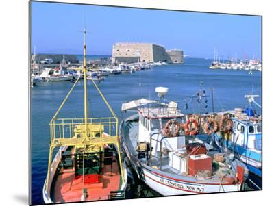 Venetian Harbour and Koules Fortress, Heraklion, Crete, Greece-Peter Thompson-Mounted Photographic Print