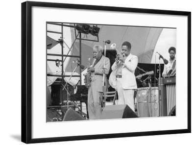 Sonny Stitt and Dizzy Gillespie, Capital Jazz, 1979-Brian O'Connor-Framed Photographic Print