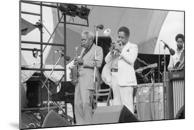 Sonny Stitt and Dizzy Gillespie, Capital Jazz, 1979-Brian O'Connor-Mounted Photographic Print