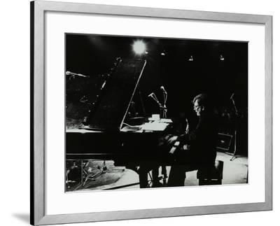 American Pianist Dick Wellstood Playing at Potters Bar, Hertfordshire, 1986-Denis Williams-Framed Photographic Print