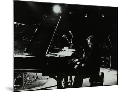 American Pianist Dick Wellstood Playing at Potters Bar, Hertfordshire, 1986-Denis Williams-Mounted Photographic Print