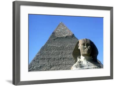 The Sphinx and Pyramid of Khafre (Chephren), Giza, Egypt, 4th Dynasty, 26th Century Bc-CM Dixon-Framed Photographic Print