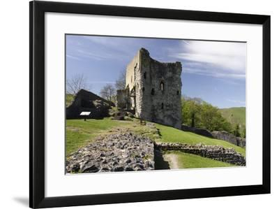 Peveril Castle, Castleton, Derbyshire-Peter Thompson-Framed Photographic Print