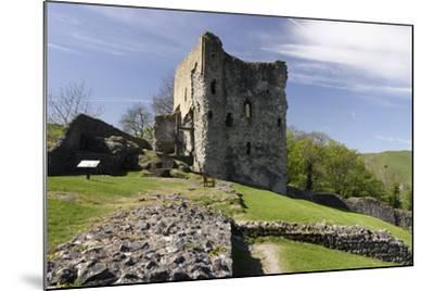 Peveril Castle, Castleton, Derbyshire-Peter Thompson-Mounted Photographic Print