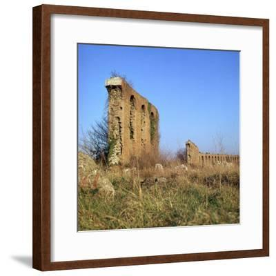 Roman Aqueduct Near the Appian Way, 4th Century Bc-CM Dixon-Framed Photographic Print