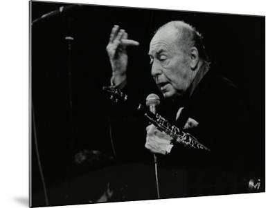 Woody Herman on Stage at the Forum Theatre, Hatfield, Hertfordshire, 24 May 1983-Denis Williams-Mounted Photographic Print