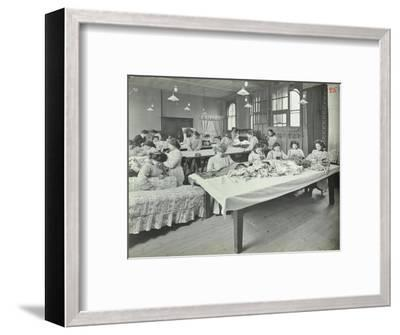 An Upholstery Class for Female Students at Borough Polytechnic, Southwark, London, 1911--Framed Photographic Print