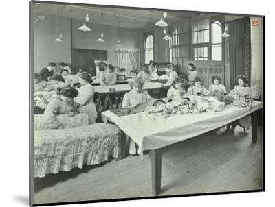 An Upholstery Class for Female Students at Borough Polytechnic, Southwark, London, 1911--Mounted Photographic Print