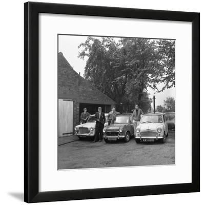 Group of Friends with their Cars, Mexborough, South Yorkshire, 1965-Michael Walters-Framed Photographic Print