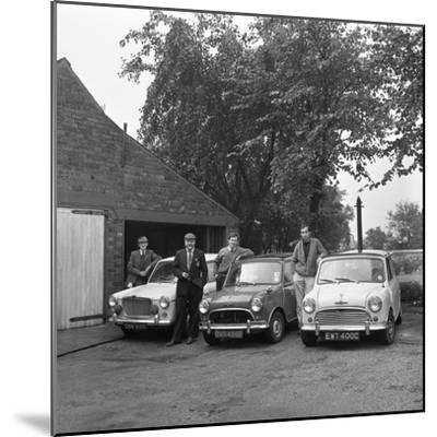 Group of Friends with their Cars, Mexborough, South Yorkshire, 1965-Michael Walters-Mounted Photographic Print