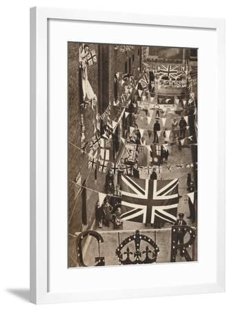 Blackfriars, London, Decoarted for King George Vis Coronation, 1937--Framed Photographic Print