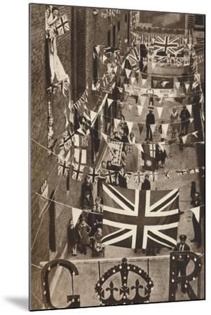 Blackfriars, London, Decoarted for King George Vis Coronation, 1937--Mounted Photographic Print